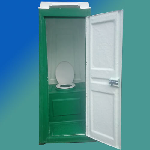 chemical toilets front view